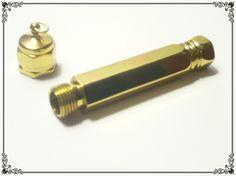 Needle Case - Hexagonal Brass