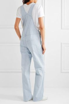 A.P.C. Atelier de Production et de Création - Montana Striped Cotton-blend Overalls - Blue - FR