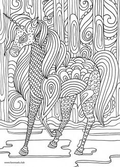 Facebook Google+ Pinterest Twitter Facebook Google+ Pinterest Twitter Magical Unicorn in the forest. Like this coloring page? Click on the link belowtodownload aFREEhigh-resolution version that you can print out and color.