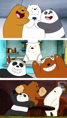 we bare bear♡ Iphone Wallpaper Planets, Funny Phone Wallpaper, Bear Wallpaper, Galaxy Wallpaper, We Bare Bears Wallpapers, Panda Wallpapers, Cute Cartoon Wallpapers, Ice Bear We Bare Bears, We Bear