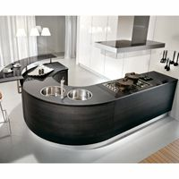 Curves in your kitchen units and island, very much on trend