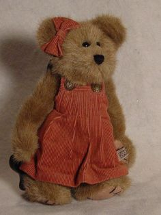 Boyds Bears Virginia Thistleberry Archive Collection w/ tags pink dress  #Boyds