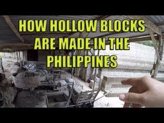 How Hollow Blocks Are Made In The Philippines. - YouTube Village People, Construction Business, Cebu, Philippines, Youtube, How To Make, Youtubers, Youtube Movies, Cebu City