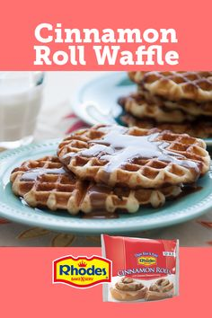 Yummy Waffles, Cinnamon Roll Waffles, Cinnamon Rolls, Savory Waffles, Good Morning Breakfast, Breakfast Bake, Breakfast Dishes, Best Breakfast Recipes, Brunch Recipes