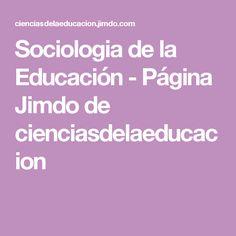 Sociologia de la Educación - Página Jimdo de cienciasdelaeducacion Emile Durkheim