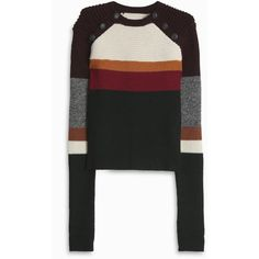 ISABEL MARANT ETOILE Doyle Striped Jumper ($364) ❤ liked on Polyvore featuring tops, sweaters, colorful tops, multi colored striped sweater, striped jumper, jumpers sweaters and multicolor sweater