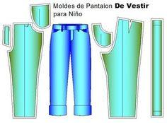 Moldes de pantalón infantil de niños | Moldes de Ropa y Sistemas de Diseño y Patronaje