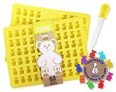 2 Pack - 63 Cavity (126 Bears) Gummy Bear Mold by The Mod... https://smile.amazon.com/dp/B016PYL9PY/ref=cm_sw_r_pi_dp_jAaBxbE2EJE1Q