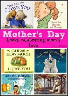 "Childrens books for Mothers Day--this could be a good thing thing for kids to ""buy"" for Mom (hint, hint dads!)"