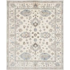 eCarpetGallery Royal Ushak Ivory Wool Hand-knotted Area Rug (8'1 x 9'10) - Free Shipping Today - Overstock.com - 19869167 - Mobile