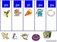 P CLASIFICANDO SILABAS PA PE PI PO PU MIMIO - TeachersPayTeachers.com   Check out the other Mimio activities - one for each consonant!  Students drag and drop the objects to the correct beginning syllable.  If the student doesn't know the word, they click on the first page in the activity to review the vocabulary with sound.