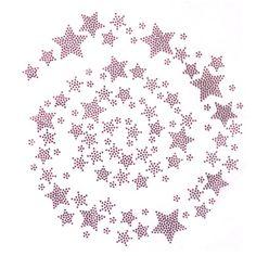 Rhinestone-Transfer-Hot-fix-Motif-Fashion-Design-Jewellery-Pink-Universe-Stars