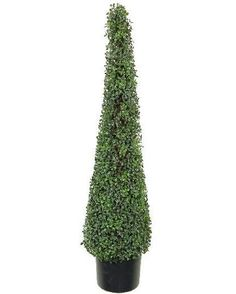 One 4 Foot Artificial Boxwood Tower Topiary Tree Decor Plant Potted * To view further for this item, visit the image link.