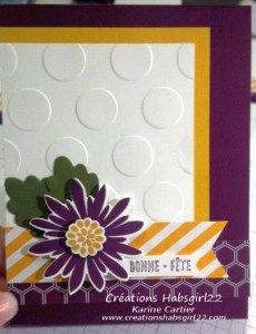 Flower Patch, An Many More Stampin Up! by Karine Cartier www.creationshabsgirl22.com