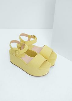 $70 Platfrom ankle-cuff sandals