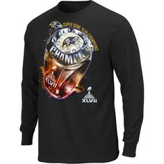 Baltimore Ravens Super Bowl XLVII Champions Victory Bling Long Sleeve T-Shirt