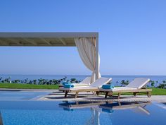 Crete escape at a luxe spa hotel with a private beach Restaurant Bar, Luxury Beach Resorts, Luxury Hotels, Crete Holiday, Villa Pool, Destinations, Greece Hotels, Hotel Spa, Greek Islands