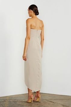 Shona Joy Core U Bustier Strapless Midi Dress In Oyster find it and other fashion trends. Online shopping for Shona Joy clothing. Core collection our...