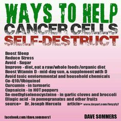 Ways To Help Cancer Cells Self-Destruct. Learn about the healing qualities of Kangen Water at http://kangenalkalineionizers.com.