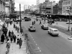 King William St,Adelaide in South Australia in 🇭🇲 Life In The 1950s, City Of Adelaide, Adelaide South Australia, King William, History Photos, Amazing Pics, Old Photos, Street View, United States
