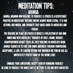 Meditation Tips: Ahimsa