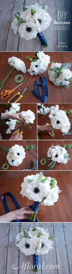 Make your DIY wedding bouquet ahead of time by combining pre-made bouquets from afloral.com to create a gorgeous bouquet that is as unique as you! Design by Kate Said Yes #diyweddings