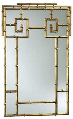 $530.00 Cyan Design Bamboo Mirror from South Shore Decorating