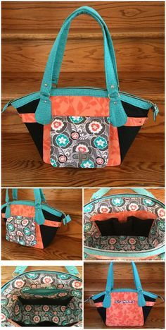 City Slicker purse sewing pattern from Chris W Designs.  I made one in vinyl - was stunning, like a designer handbag.  Highly recommended purse sewing pattern.
