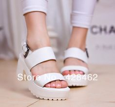 Aliexpress.com : Buy Free Shipping, Special Price,Women's Black Cow Leather sandals,Fashion platform sandals White Cow Leather sandals   NLX02021 from Reliable leather sandal suppliers on Queen Spring