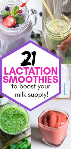 21 Milk Boosting Smoothies For Breastfeeding Moms - Lactation smoothies for breastfeeding moms. If you want to increase your breast milk supply, these - Diet For Breastfeeding Moms, Breastfeeding Smoothie, Banana Protein Smoothie, Lactation Smoothie, Boost Milk Supply, Increase Milk Supply, Lactation Recipes, Lactation Cookies, Lactation Foods