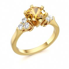 Citrine Engagement Ring Divine Crystals #citrine #diamond #ring