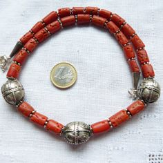 Yemen Jewelry vintage coral necklace with by beadartaustria, $295.00