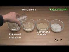 Mehlvergleich: Mandelmehl, Kokosmehl, gemahlene Mandeln, Weizenmehl  Das heutige Video stellt ausführlich die grundsätzlichen Unterschiede zwischen Mandelmehl, Kokosmehl, gemahlenen Mandeln und Weizenmehl vor. Wer mit den alternativen Mehlen backen und dabei mehr als nur Zufallserfolge feiern, muss über die unterschiedlichen Eigenschaften der Mehle Bescheid wissen. In diesem Video erfahren Sie, wie sich die Mehle in der Mischung mit Wasser verhalten und wie dies im Vergleich zueinander…