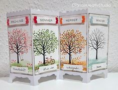 DianasKreativStudio --- Schönes aus Papier: Vier Jahreszeiten mit dem Baum der Freundschaft Music Class, Masculine Cards, Stampin Up, Bullet Journal, Watercolor, Dragon, Decor, Paper, Seasons Kindergarten