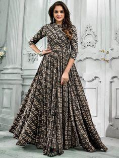 Buy Leeva Presents Amyra Heavy Rayon Fancy Designer Kurtis 5156 Frock Fashion, Abaya Fashion, Fashion Dresses, Indian Gowns Dresses, Pakistani Dresses, Simple Kurti Designs, Blouse Designs, Indian Designer Outfits, Designer Dresses