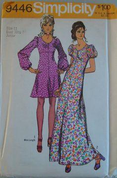Vintage OOP Simplicity Womens Sewing Pattern 9446 size 11 Uncut. $1.85, via Etsy.