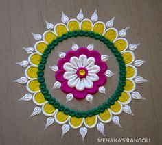 50 Swaminarayan Jayanti Rangoli Design (ideas) that you can make yourself or get it made during any occasion on the living room or courtyard floors. Easy Rangoli Designs Diwali, Simple Rangoli Designs Images, Rangoli Designs Flower, Rangoli Patterns, Free Hand Rangoli Design, Small Rangoli Design, Rangoli Border Designs, Rangoli Ideas, Rangoli Designs With Dots