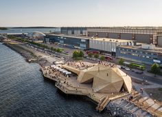 Avanto Architects completes Loyly Sauna for the coastal park in Helsinki, Finland. This Waterfront public sauna will be a part of Helsinki park in Finland. Architecture Design, Cultural Architecture, Amazing Architecture, Landscape Architecture, Landscape Design, Architecture Interiors, Sustainable Architecture, Helsinki, Private Sauna