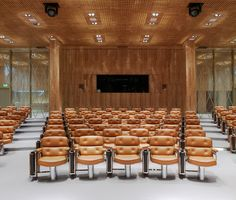 Eames Lobby Chairs in a nice auditorium.