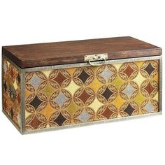 Named for India's diamond center, our Surat trunk is covered with a diamond-medallion pattern and accented with antiqued hardware. Generously sized to hold seasonal sweaters, photo albums, bedding and more, this is storage you don't have to hide.