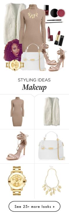 """""""Untitled #192"""" by c-ayannah on Polyvore featuring Rumour London, Schutz, Versace, Movado and River Island"""