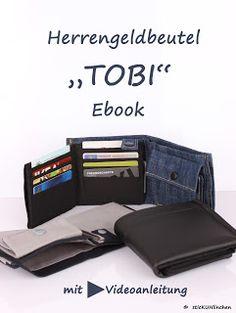 """Ebook Herrengeldbeutel """"Tobi"""" Geldbörse Geldbeutel  Wie nähe ich Kartenfächer Mit Videoanleitung"""