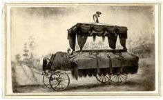 Abraham Lincoln's funeral car, Washington, D.C., photograph of an illustration