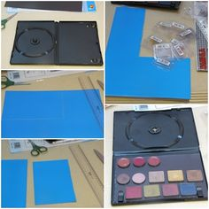 Materials Needed To Make An Empty Magnetic Makeup Palette:        One magnetic sheet       One empty DVD case