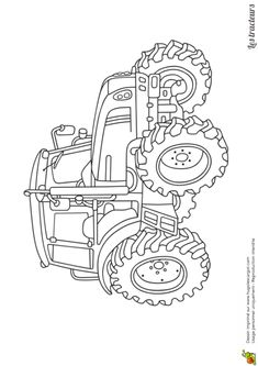 step-by-step how to draw a tractor | Drawing Library | Tractor drawing, Tractor coloring pages ...