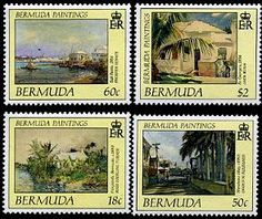 Bermuda Paintings II Stamps Postage Stamps, Paintings, Paint, Painting Art, Stamps, Painting, Painted Canvas, Drawings, Grimm