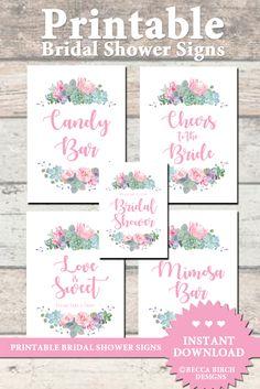 Bridal Tea Party Games  Floral Theme  Wedding Trivia  Bridal