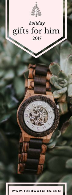 The only luxury wood timepiece on the market comes from JORD, and the it's the only one worth placing under the tree this year. Find his new favorite at jordwatches.com - engraving available with free shipping as always!