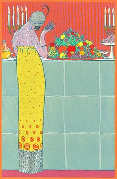 "1912 Georges Lepape (French illustrator, 1877-1971) ~ The Feast from ""Modes et Manieres d'Aujourd'hui"", Pl VII"