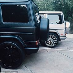 Expensive taste: The TV star often shares pictures of her cars on social media